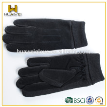 Factory direct selling women cheap and warmth pigskin suede leather gloves
