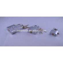 Cilindro de latón cromado candado de hierro plateado