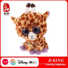 Brinquedo feito sob encomenda do presente do luxuoso do brinquedo do presente das crianças Brinquedo macio feito sob encomenda do girafa dos olhos