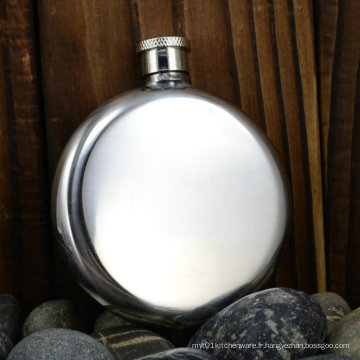 2015 Hot Sale Stainless Steel Round Hip Flask 2.5 Oz