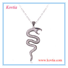 Snake pendant jewellery long costume necklace