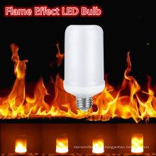 Творческий мерцание эмуляции Ретро атмосферу декоративная Лампа E27 2835 Сид e26 7W светодиодный эффект пламени огня лампы
