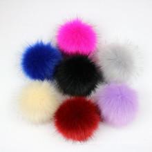 DIY knitting hat Accessories custom size 10cm 11cm faux raccoon fur pompom