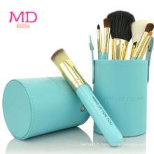 Ensemble de brosses cosmétiques PRO 7PCS Bluetubular Powder (TOOL-183)