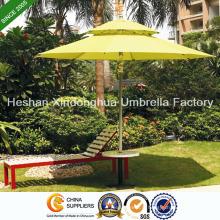 2,7 m Double couche en Aluminium, parasols pour les meubles extérieurs (PU-0027AD)