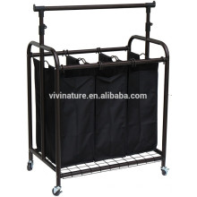 Vivinature roupas rack com classificador de lavanderia hamper
