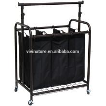 Vivinature вешалка с корзиной для белья сортировщик