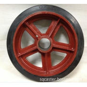 Special mold on rubber wheel