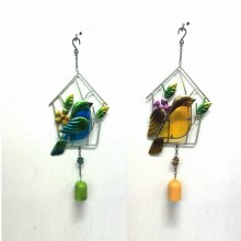 2 Asst Promotion Gift Metal Garden Bird Wind Bell Craft