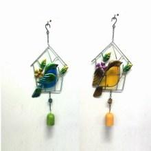 2 Asst Promoción Regalo Metal Jardín Bird Wind Bell Craft