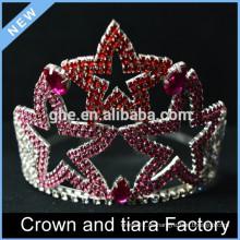 Corona de la tiara de la reina de Star barato para los cabritos
