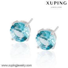 26984 moda preço especial rodada brinco de jóias de zircônia cúbica
