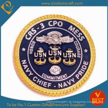 Machen Sie die Navy Cheif Herausforderungsmünze