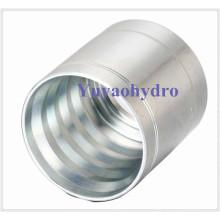 Ferrule à sertir en acier pour montage en tuyau hydraulique SAE 100 R2