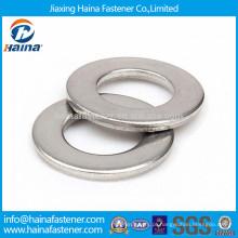 Arruela plana DIN125 GB97 304 em aço inoxidável