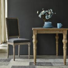 Haute qualité antique en bois haut dossier chaises pour salle à manger