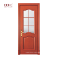 Latest design wooden single flush door design with glass
