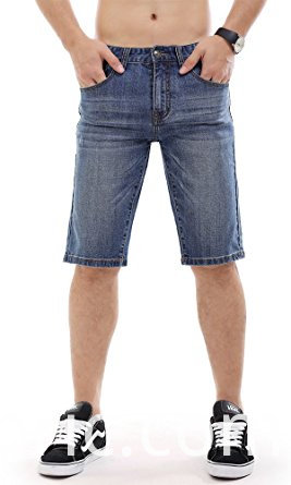 506men Denim Shorts Ripped Slim Fit Jeans