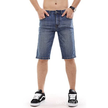 Männer Denim Shorts Zerrissene Slim Fit Jeans