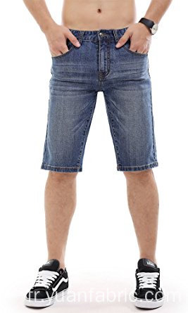 Men Denim Shorts Jean déchiré Slim Fit