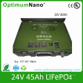 Military Backup Power 24V 45ah LiFePO4 Battery