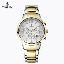 Relógio de pulso dos homens impermeáveis da forma com a faixa de aço inoxidável 72194