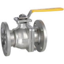 Válvula de esfera flangeada 2-PC com almofada de montagem