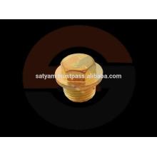 Tapón de tapón de cabeza hexagonal con brida de bronce