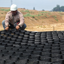 Gravel grid stabilizer slope protective honeycomb geocell