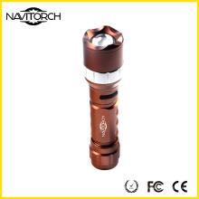 Zoomable rechargeable 260lm puissante lampe de poche en aluminium (NK-681)