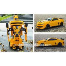 Radio Control Car 1:18 Transform Robot Toy Car Wheels Cute Kids Car