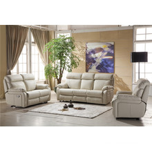 Living Room Genuine Leather Sofa Recliner (D841)