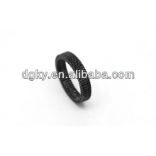 Stainless Steel Black Plated Simple mens military rings