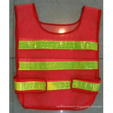 Polyester Mesh Traffic Vest / Warning Vest with Reflective Strip