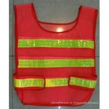 Poliéster Malha Tráfego Vest / Advertência Vest com Reflexivo Strip