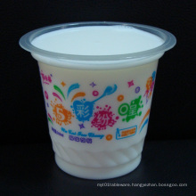 Disposable Mini Plastic Pudding / Sauce / Tasting Cup with Lid
