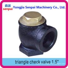 Válvula de retención de ángulo de la válvula de retención de triángulo de producto de la estación de servicio