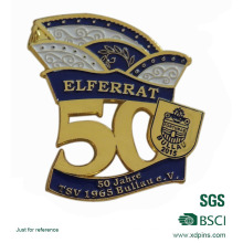 High Quality Die Casting 50 Years Anniversary Gold Lapel Pin