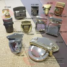 Metal Lock Accessories for Handbag Bag Suitcase Push Lock