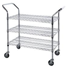 Metal Wire Mesh Supermarket Grid Shelf Rack for Sale