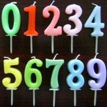 Wilton Number Candle Pick Set Numerals Rainbow Candle