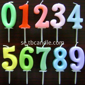 number stick candles