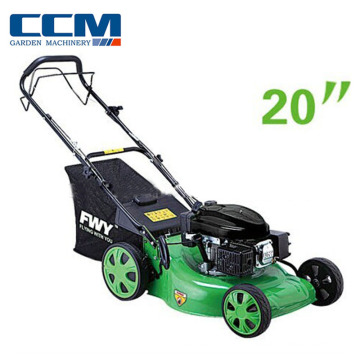 gasoline lawn mower hand push petrol brush cutter with wheels 4 stroke air cooled 20inch grass mower