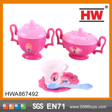 Plastic Pink Girls Tea Set Play Toy Kid