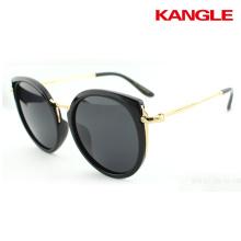 Haute qualité de bons verres en alliage d'aluminium cadre rétro conduite des femmes polarisées lunettes de soleil