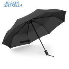 High Quality Promotional Customized 3 Foldable Automatic Windproof Travel Umbrella Rain Can Print Logo and Slogan
