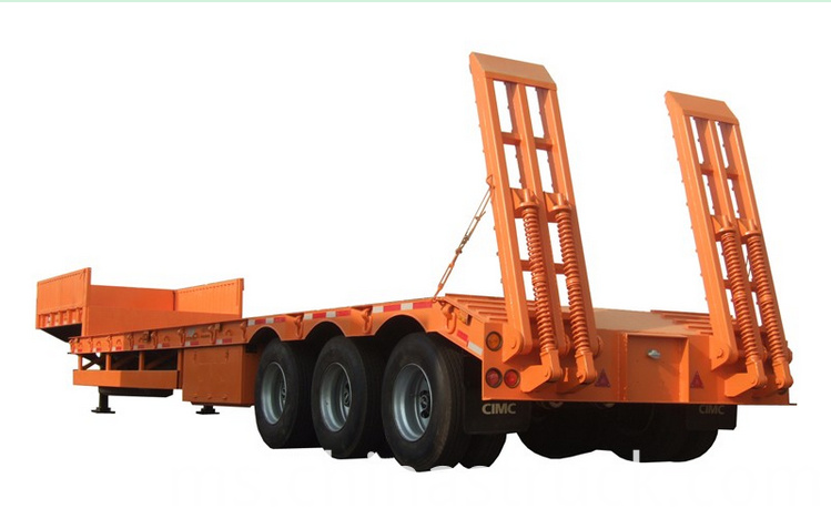 Tir axle 60Ton low bed trailer picture 2