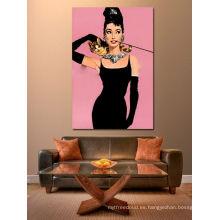 Audrey Hepburn figura impresión de pintura al óleo del arte pop