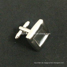 Benutzerdefinierte einfache Design leere Silber Manschettenknöpfe für Souvenir