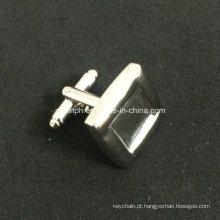 Abotoaduras de prata em branco projeto personalizado simples para lembrança